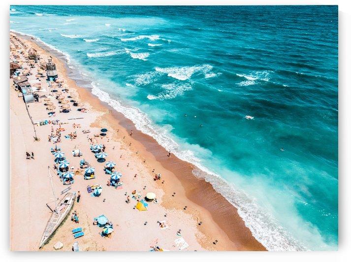 Beach Print Aerial Beach Aerial Photography Ocean Waves Waves Print Sea Print Modern Home Decor Art Print by Radu Bercan