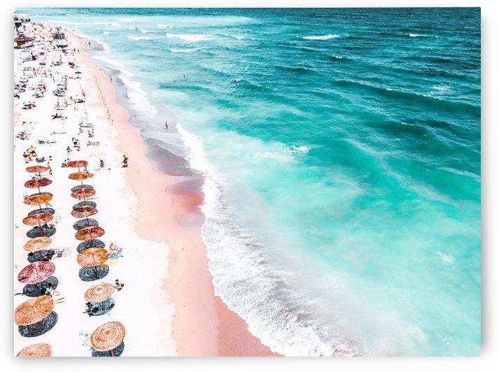 Aerial Beach Print Aerial Photography Beach Print Blue Ocean Print Seaside Beach Print Ocean Waves Print Beach Art Home Decor Art Print by Radu Bercan