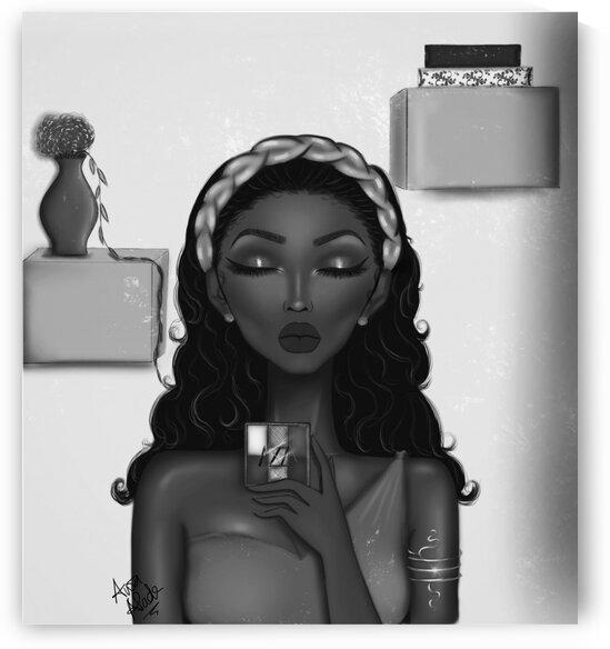 Aisha the beauty blogger by Awa Alade by awaXart