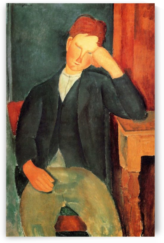 Modigliani - Peasant boy -2- by Modigliani