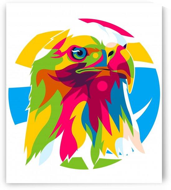 The Head of Bald Eagle  by wpaprint