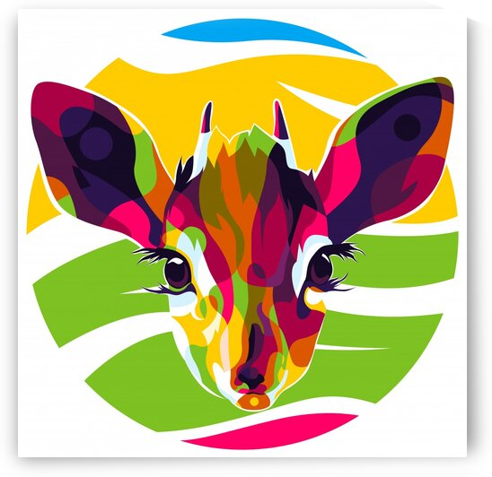 The Colorful Antelope Head by wpaprint