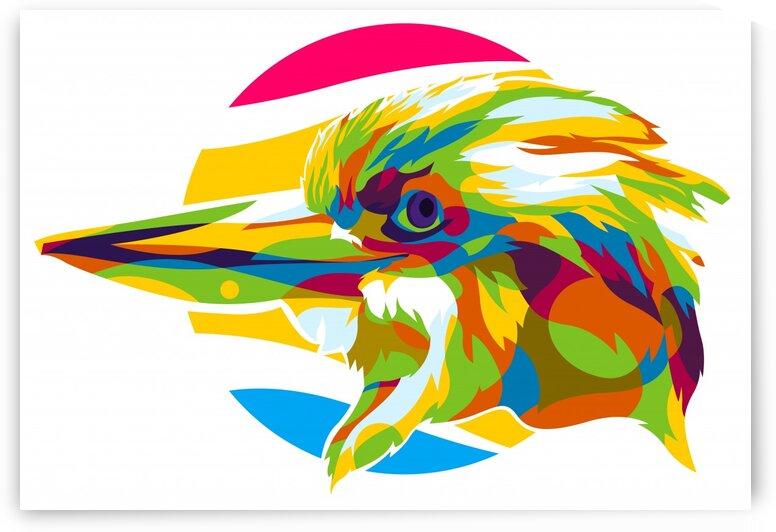 Giant Beak Bird Pop Art by wpaprint