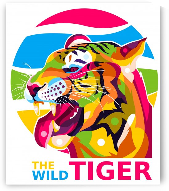 The Wild Tiger by wpaprint