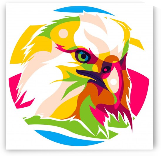 The Colorful Bald Eagle by wpaprint