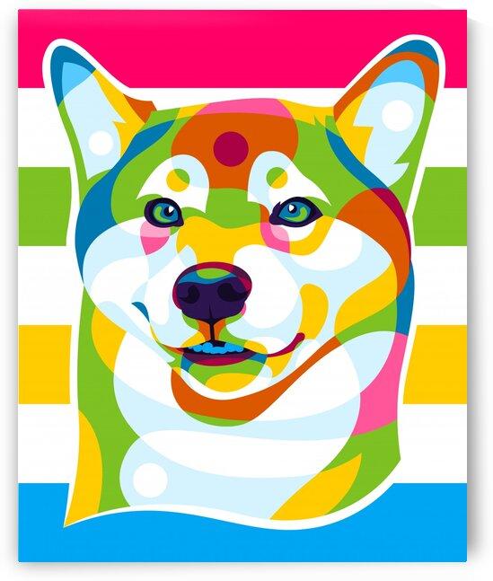 Shiba Inu Colorful Dog by wpaprint