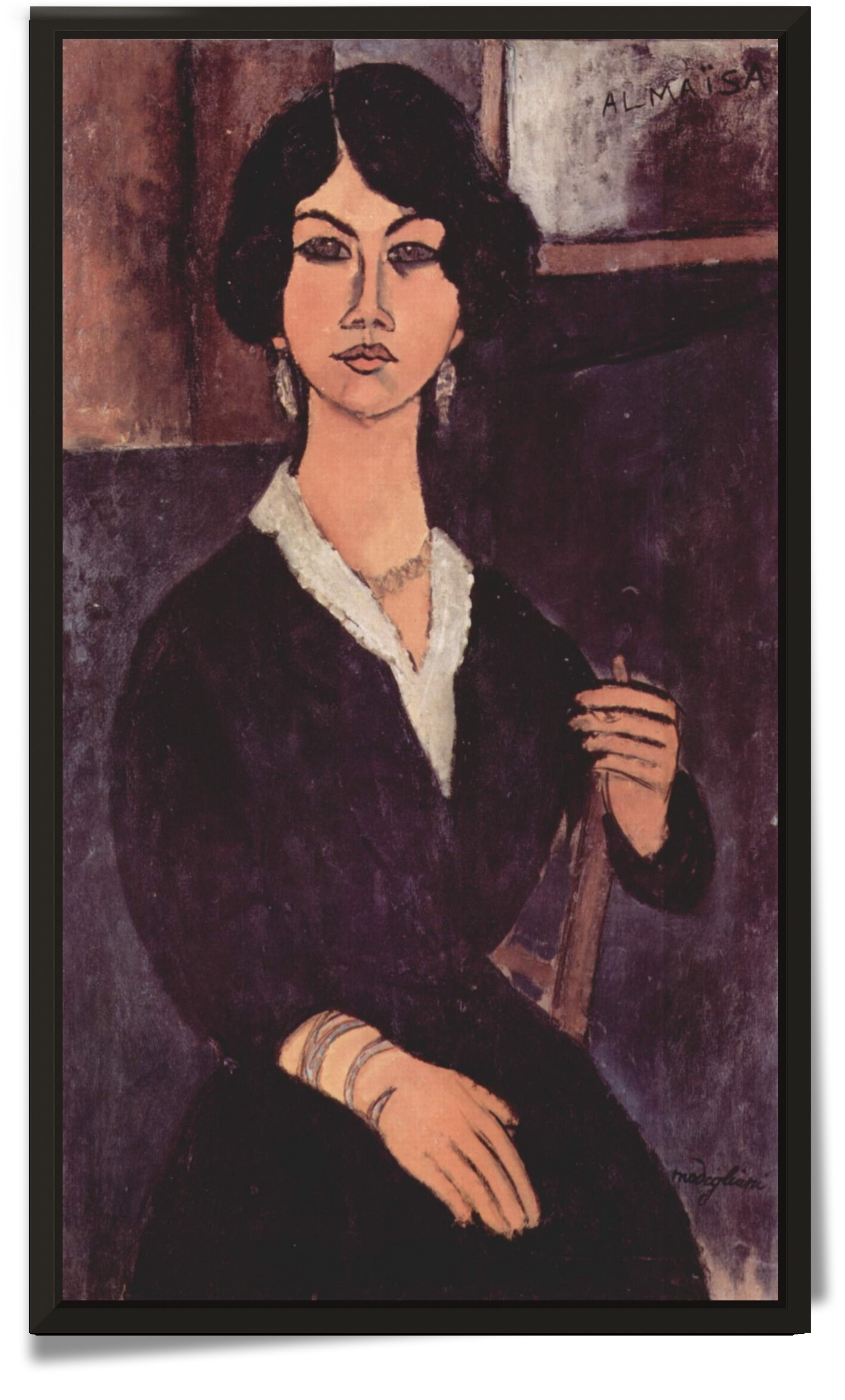Modigliani - Portrait of a sitting woman by Modigliani
