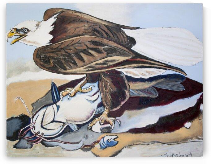 Louisiana Bald Eagle with Catfish by Caroline Youngblood
