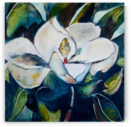 Louisiana Magnolia with 1937 Letter Collage by Caroline Youngblood
