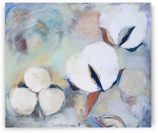 Louisiana Cotton with Pastels by Caroline Youngblood