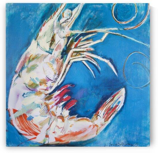 Large Square Louisiana Shrimp by Caroline Youngblood
