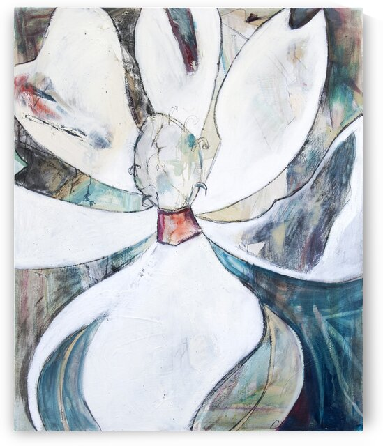 Neutral Cubist Magnolia by Caroline Youngblood