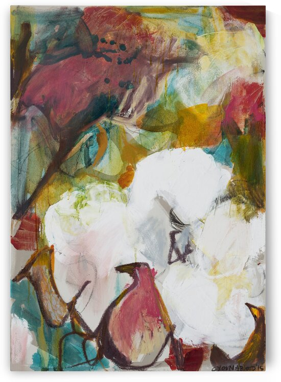 Indian Cotton Triptych panel iii by Caroline Youngblood