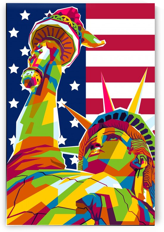 Freedom Statue of New York by wpaprint