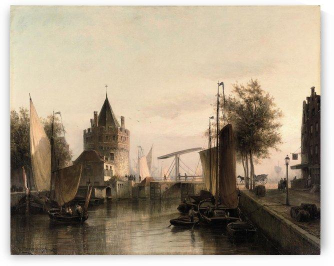 View of Amsterdam, with the Schreierstoren by Cornelis Christiaan Dommelshuizen