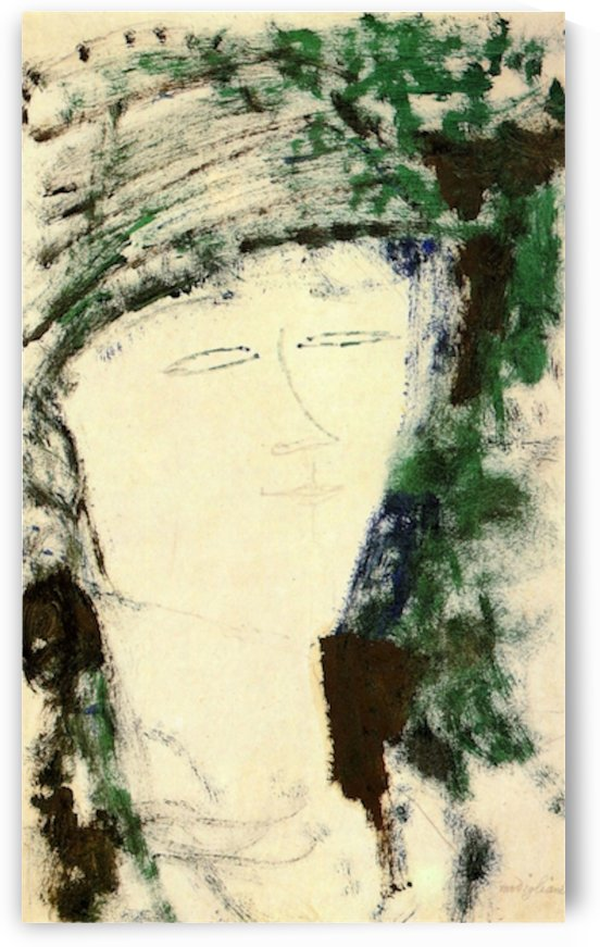Modigliani - Portrait of Beatrice Hastings -4- by Modigliani