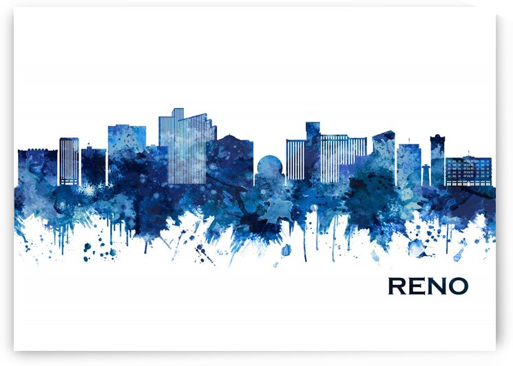 Reno Nevada Skyline Blue by Towseef