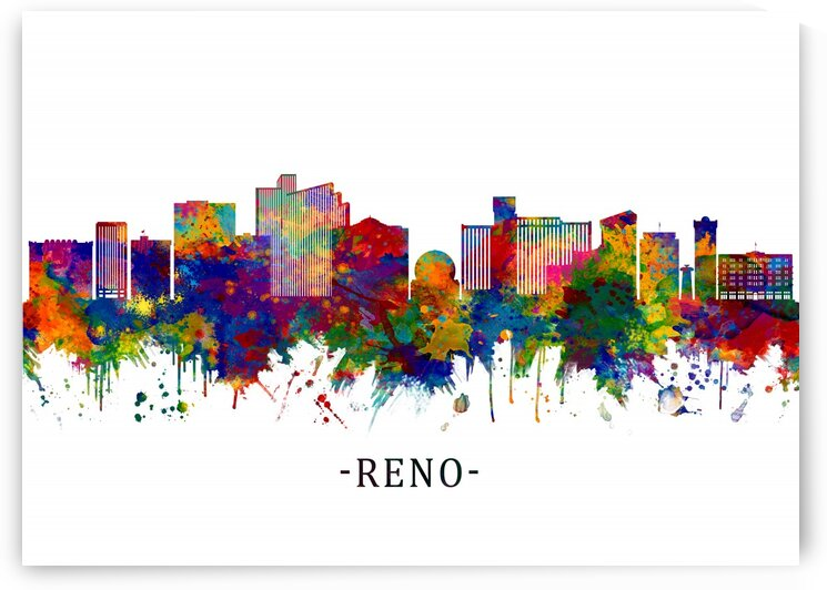Reno Nevada Skyline by Towseef