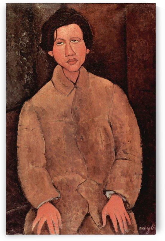 Modigliani - Portrait of Chaiim Soutine -2- by Modigliani