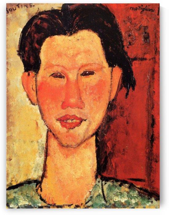 Modigliani - Portrait of Chaiim Soutine -3- by Modigliani