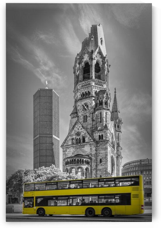BERLIN Kaiser Wilhelm Memorial Church with bus | colorkey by Melanie Viola