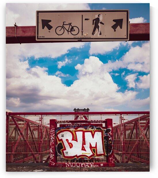 Black Lives Matters Brooklyn Bridge Graffiti by Javier Roa