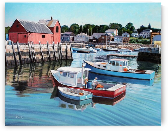 Lobster Boats in Rockport Harbor by Rick Bayers