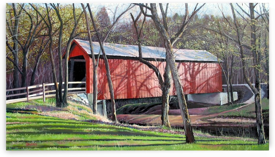 Sandy Creek Covered Bridge by Rick Bayers