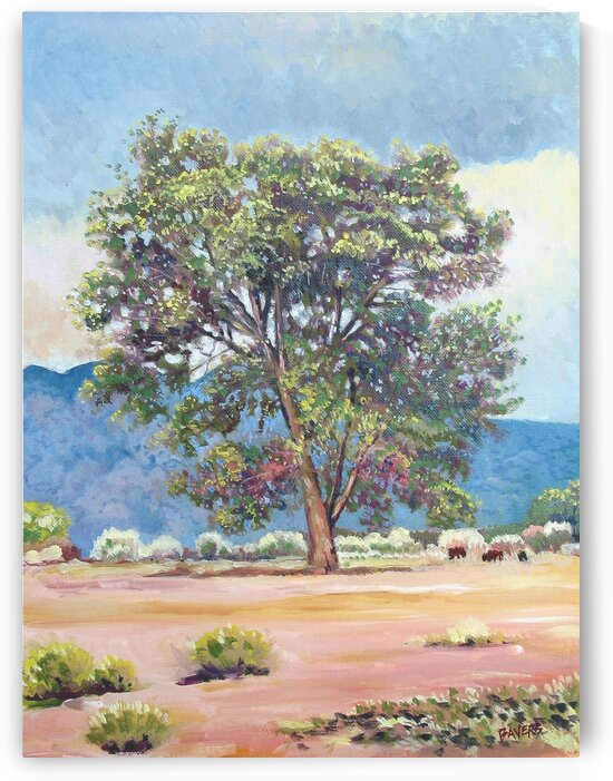 Blue Mountains and Tree by Rick Bayers