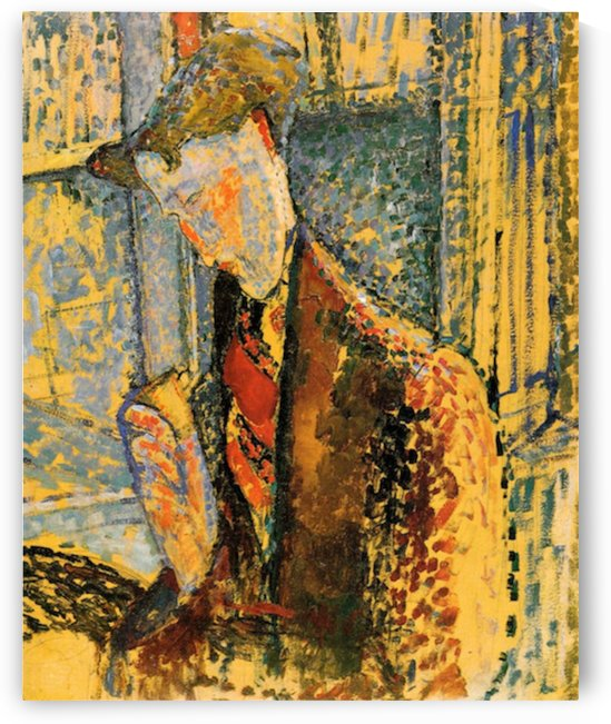 Modigliani - Portrait of Frank Burty Haviland -2- by Modigliani