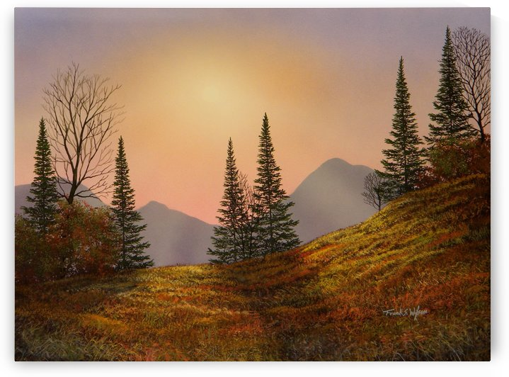Alpine Sunset by Frank Wilson