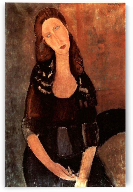 Modigliani - Portrait of Jeanne Hebuterne -3- by Modigliani