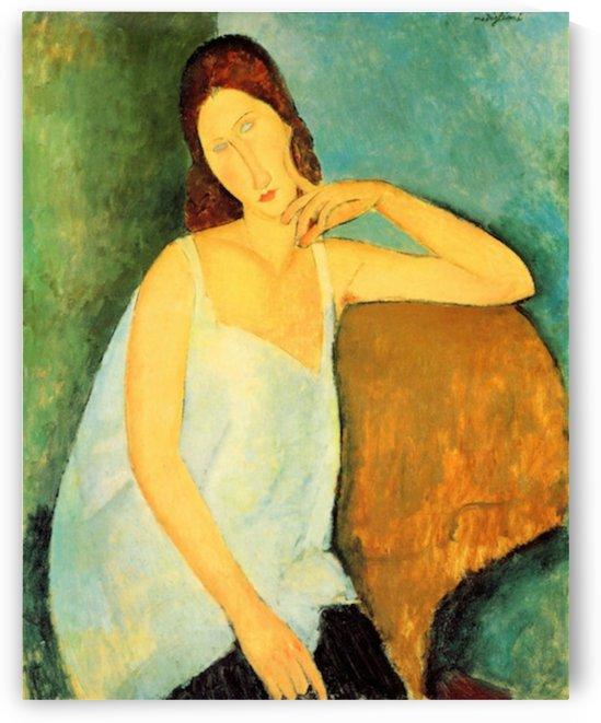 Modigliani - Portrait of Jeanne Hebuterne -4- by Modigliani