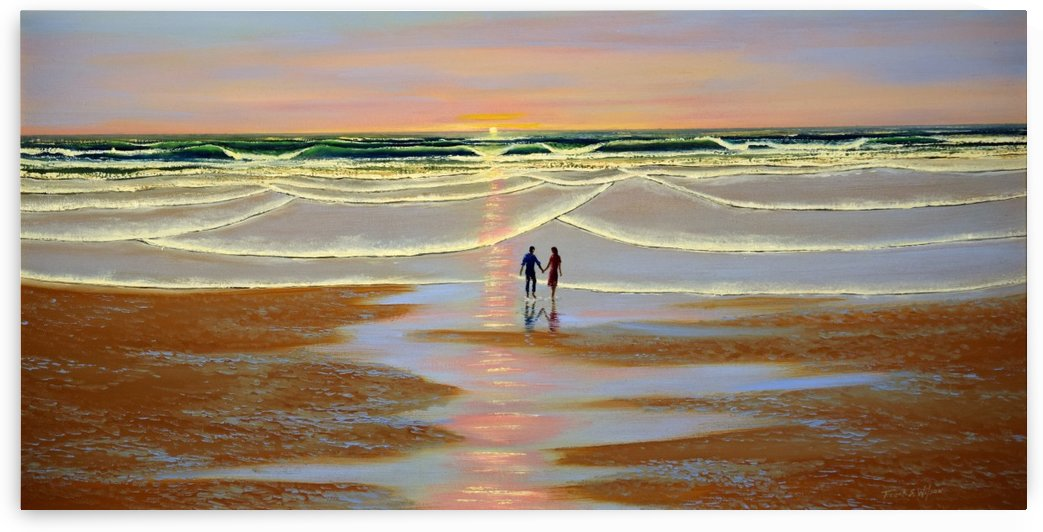 Sunset At The Beach by Frank Wilson