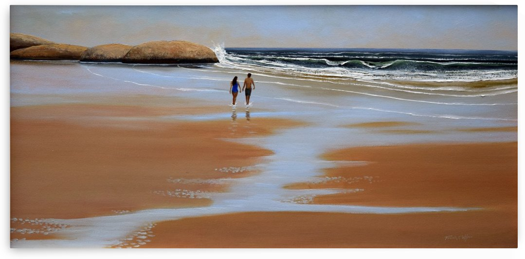 Walking The Beach by Frank Wilson