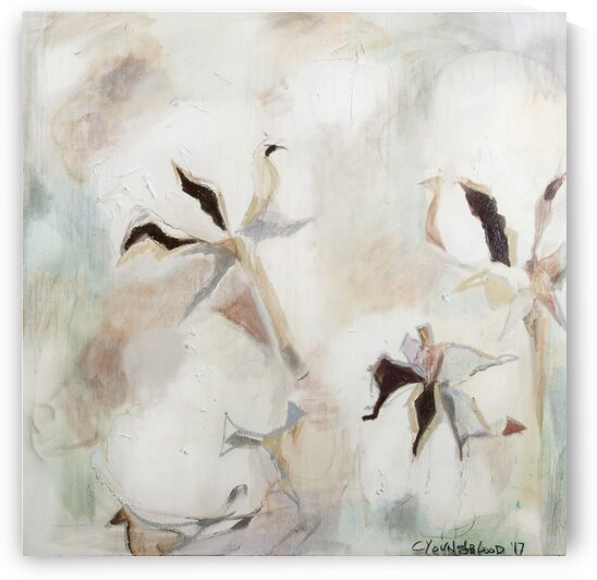 Soft Square Louisiana Cotton Abstraction by Caroline Youngblood