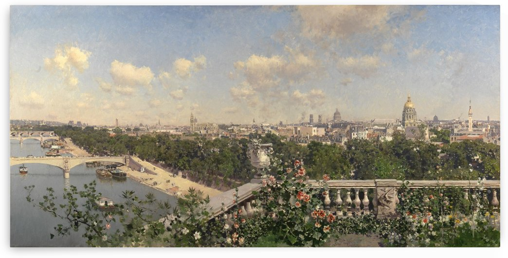 View of Paris by Martin Rico y Ortega