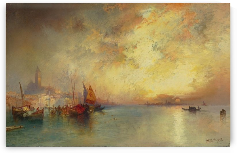 View of Venice by Martin Rico y Ortega