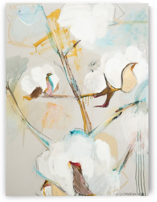 December Louisiana Cotton Abstraction by Caroline Youngblood