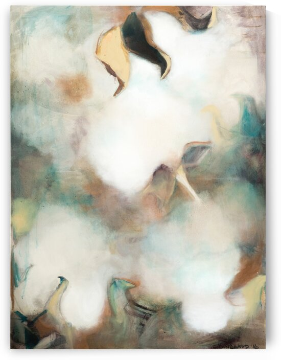Soft Louisiana Cotton Abstraction by Caroline Youngblood