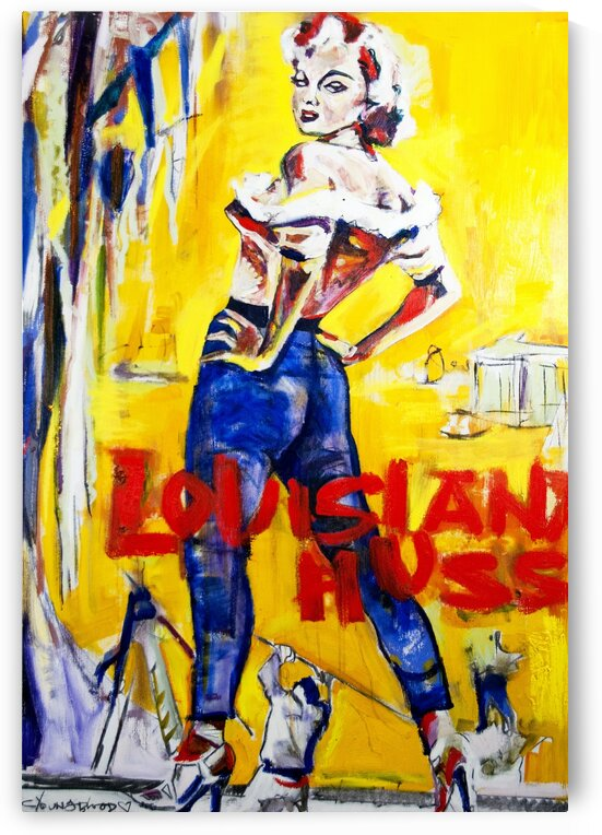 Louisiana Hussy II Vintage Film Poster Abstraction   by Caroline Youngblood