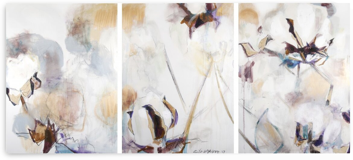 2017 Louisiana Cotton Triptych by Caroline Youngblood