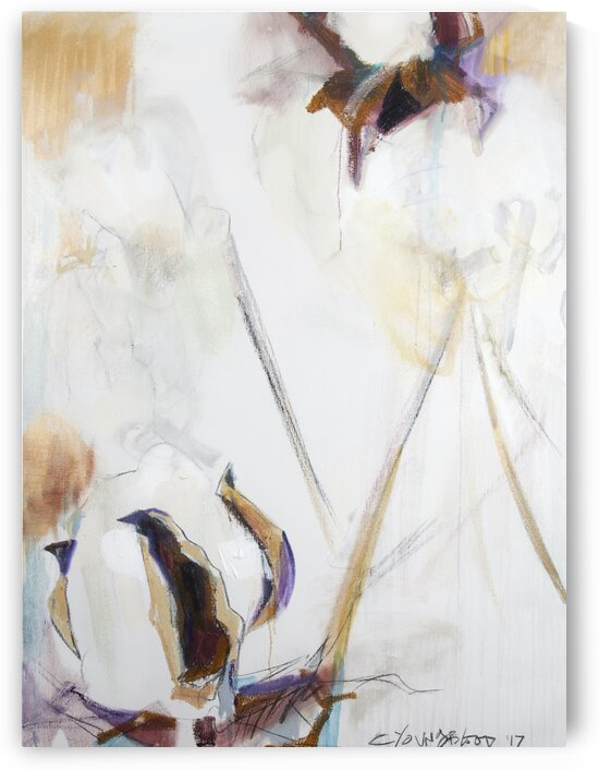 2017 Louisiana Cotton Triptych Panel I by Caroline Youngblood