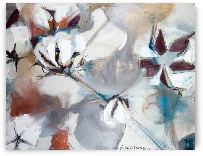 Large Louisiana Cotton Abstraction by Caroline Youngblood