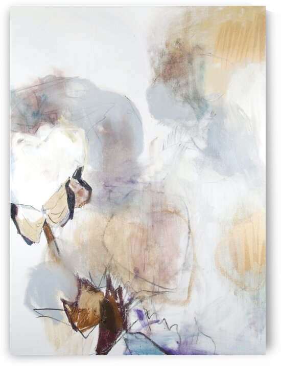 Soft Louisiana Cotton Triptych Panel III by Caroline Youngblood