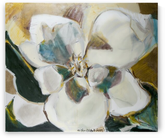 Louisiana Magnolia with Metallic Gold by Caroline Youngblood