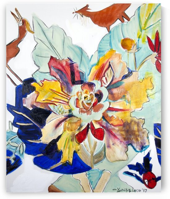 Tobacco Leaf Diptych- Panel II by Caroline Youngblood