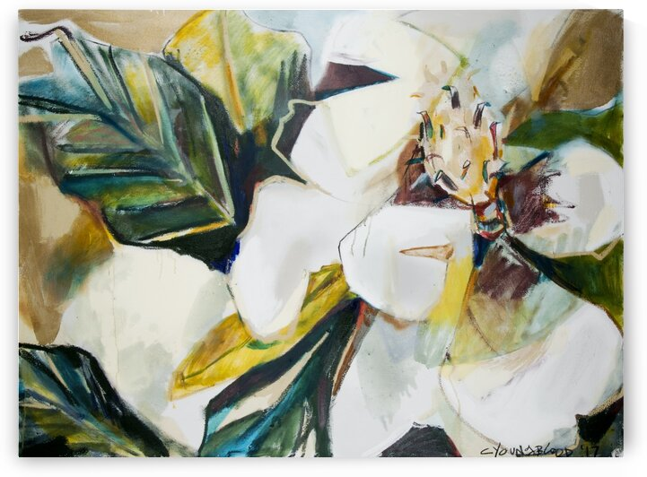 Louisiana Magnolia  Abstraction by Caroline Youngblood