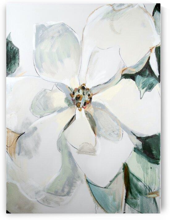 Louisiana Magnolia Triptych Panel ii  by Caroline Youngblood