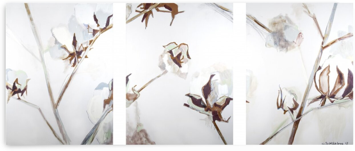 2017 Louisiana Cotton Triptych II by Caroline Youngblood